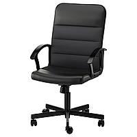 Кресло рабочее IKEA RENBERGET Бумстад черный 203.394.20