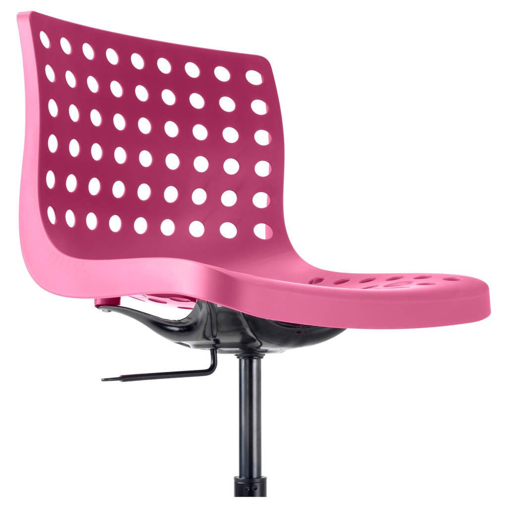 Стул IKEA SKÅLBERG / SPORREN поворотный рабочий розовый черный 190.236.00