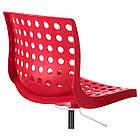 Стул IKEA SKÅLBERG / SPORREN поворотный рабочий красный белый 690.235.94, фото 3