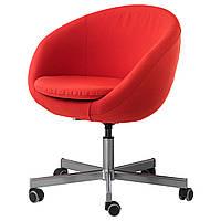 Кресло IKEA SKRUVSTA Vissle красно-оранжевый 002.800.05