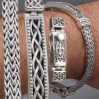 Серебряный мужской браслет эксклюзивный ручная работа
