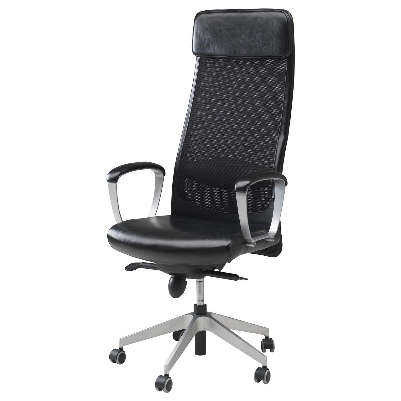 Кресло IKEA MARKUS черное Glose Robust черный 401.031.00