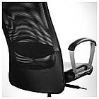 Кресло IKEA MARKUS черное Glose Robust черный 401.031.00, фото 3