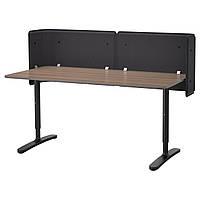 BEKANT Стол для приемной, серый, черный