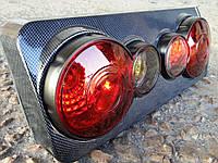 Задние стопы на ВАЗ 2106 корпус карбон,3D, фото 1