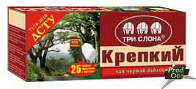 Чай чорний Міцний ДСТУ Три Слони 25 пакетів, фото 2