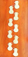 Подвеска снеговики 175 см