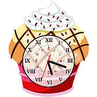 Часы настенные Пирожное с кремом