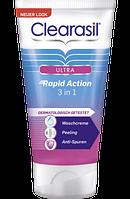 Clearasil Waschcreme Ultra Rapid Action 3 in 1 Очищающий крем для лица 150 мл (Франция)