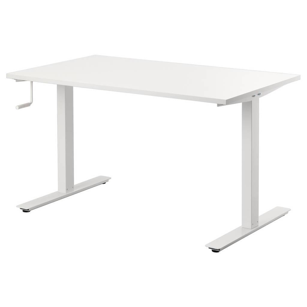 Стол IKEA SKARSTA с регулируемой высотой белый 490.849.65