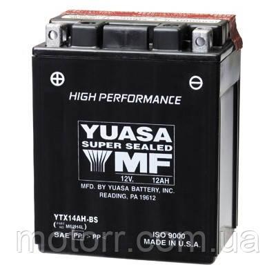 Аккумулятор YUASA YTX14AH-BS