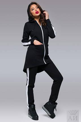 А1279 Теплый спортивный костюм с удлиненной кофтой , фото 2