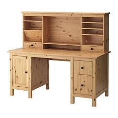 HEMNES Рабочий стол с возможностью дополнительной кровати, светло-коричневый 591.225.23