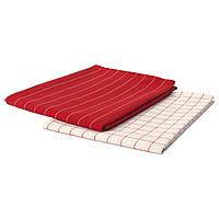 IKEA 365+ Полотенце кухонное, красный, белый