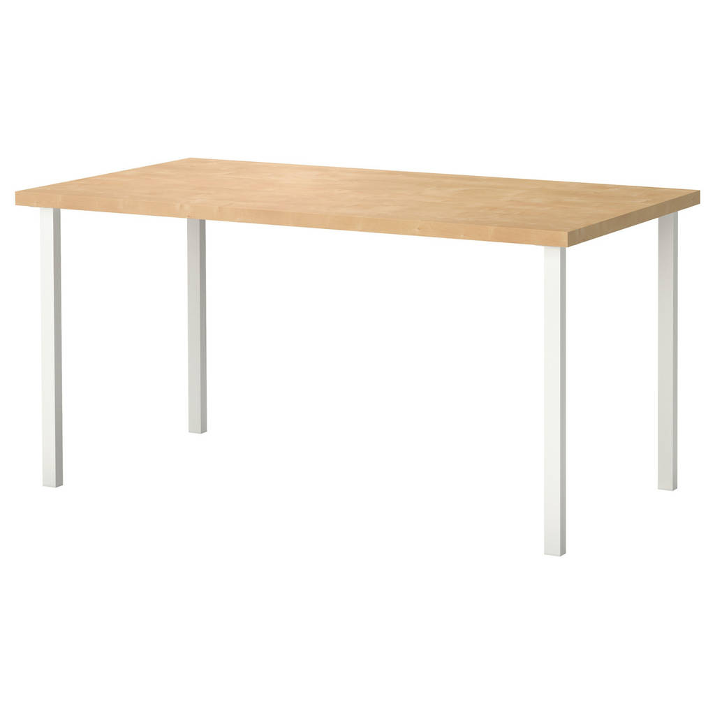 LINNMON / GODVIN Обеденный стол, imit. березы, белый