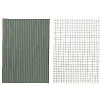 IKEA 365+ Полотенце кухонное, зеленый, белый