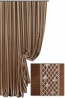 Портьерная ткань Ришелье полоса