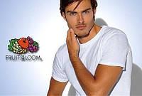 Белые мужские футболки купить оптом fruit of the loom S-XXL