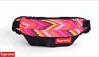 Поясная сумка Supreme (разноцветные яркие прямоугольники)