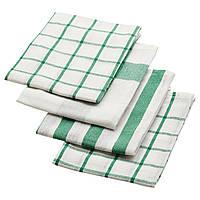 ELLY Полотенце кухонное, белый, зеленый