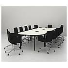 BEKANT Стол для совещаний, белый, черный, фото 4