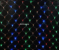 Новогодняя гирлянда сетка электрическая 600 LED размером 2х2 м