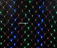 Новогодняя гирлянда сетка электрическая 600 LED размером 2х2 м, фото 1