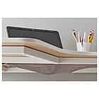 Компьютерный стол IKEA BEKANT 160x110 см угловой березовый шпон белый 690.063.92, фото 2