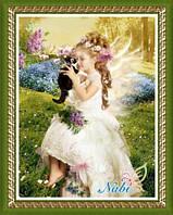 """Алмазная вышивка """"Ангелок с котиком"""""""