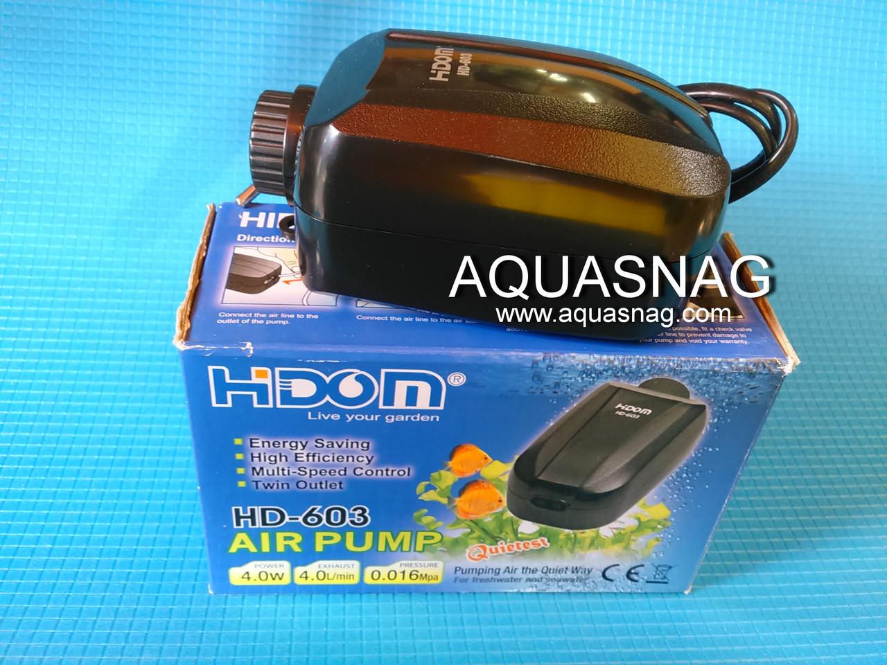 Компрессор Hidom HD-603 (4Вт, 4L/min*2) 2-х канальн. плавная регулировка