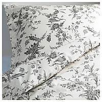 ALVINE KVIST Комплект постельного белья, белый, серый