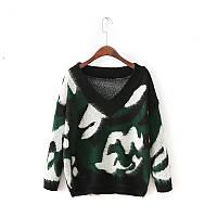 Объемный свитер камуфлж, фото 1