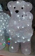 Фигура  светодиодная  Новогодний белый Мишка с малышом