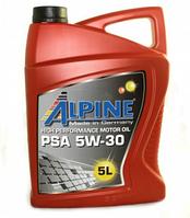 Моторное масло ALPINE 5W30 PSA 5L синтетика ( C2 , A5/B5 , Peugeot , Citroen , Fiat , Toyota )
