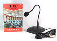 Микрофон для конференций EW1-88: 50 Гц-14 кГц, гибкая ножка, подставка, ветрозащита, 2хАА
