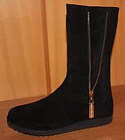 Сапоги зимние детские замшевые для девочки, зимние детские замшевые сапоги от производителя модель Э11зам.