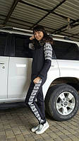 Спортивный костюм женский зимний Скандинавия черный , спортивные костюмы