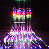 Новогодняя гирлянда световой дождь, гирлянда Водопад на окно 400 LED, размер 3х2м (waterfall light)