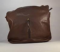 Женская сумка-мешок коричневая стильная хобо ERICK 15678