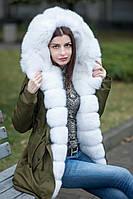 Куртка парка с натуральным мехом песца