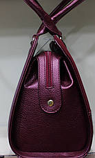 Сумка женская классическая Prado калиновая замшевая 17-1433-2, фото 2