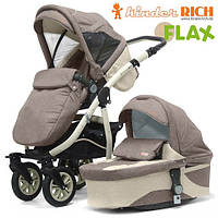 Универсальная коляска 2 в 1 Kinder Rich Fox Flax Broun