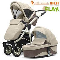 Универсальная коляска 2 в 1 Kinder Rich Fox Flax Beige