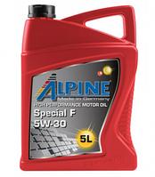 Моторное масло ALPINE 5W30 Special F 5L синтетика ( SN/CF , A5/B5 GF-4 , Ford , Renault RN0700 )