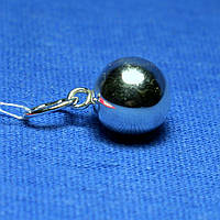 Круглый серебряный кулон Шарик 3041