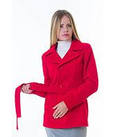 Пальто женское модель №15 жакет красное (весна/осень), р.40-48