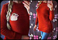 Модный женский свитер зимний