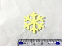 Нашивка снежинка желтая 35мм