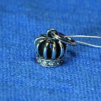Серебряная подвеска с фианитом Корона 4045