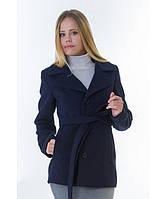 Пальто женское модель №15 жакет синее (весна/осень), р.40-48
